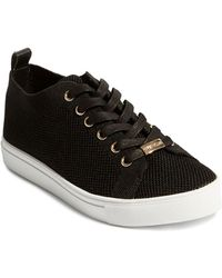 Karen Millen Women's Knit Lace - Up Sneakers - Black