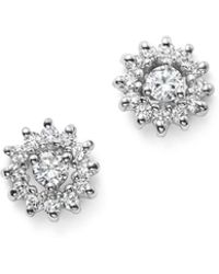 KC Designs - 14k White Gold Diamond Sunburst Earrings - Lyst