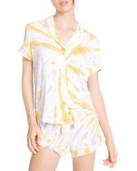 Pj Salvage Tie Dyed Shorts Sleep Set - Multicolor