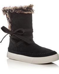 TOMS - Women's Vista Suede & Faux-fur Booties - Lyst