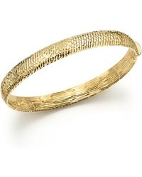 Bloomingdale's 14k Yellow Gold Polished Hinge Bangle - Metallic