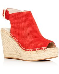 Kenneth Cole - Women's Olivia Perforated Platform Wedge Espadrille Sandals - Lyst