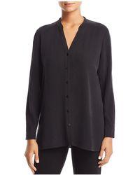 Eileen Fisher - V-neck Shirt - Lyst
