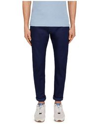 Ted Baker - Dobbz Printed Straight Fit Jeans In Blue - Lyst