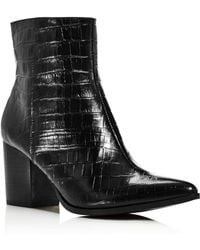 620c4583f69 Jaggar - Women s Grounded Croc-embossed Leather Booties - Lyst