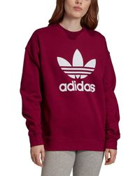 adidas Trefoil Logo Sweatshirt - Red