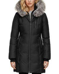 SOIA & KYO - Fox Fur Trim Down Coat - Lyst