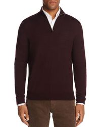 Bloomingdale's Quarter - Zip Merino Sweater - Multicolor