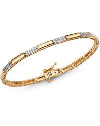 Bloomingdale's Diamond Link Bracelet In 14k Yellow Gold - Multicolour