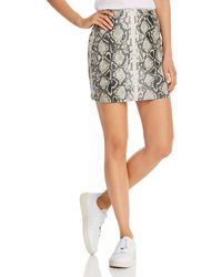 Aqua Embossed Faux - Leather Mini Skirt - Multicolor