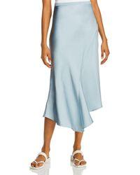 Anine Bing Bailey Asymmetric Silk Skirt - Blue