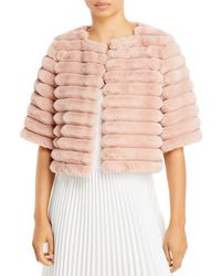 BCBGMAXAZRIA Faux Fur Shrug - Pink