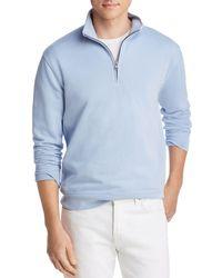 Bloomingdale's Half - Zip French Terry Sweatshirt - Blue