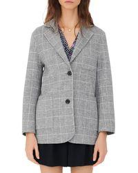 Maje - Garionette Plaid Wool Blend Coat - Lyst