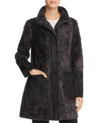 Vince Camuto - Faux Shearling Coat - Lyst