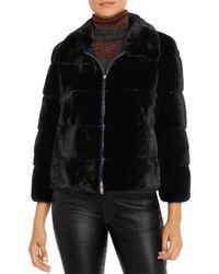 Maximilian Mink Fur Jacket - Black