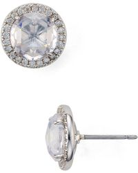 Kate Spade - Pavé Halo Stud Earrings - Lyst