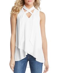 Karen Kane - Sleeveless Crossover Top - Lyst