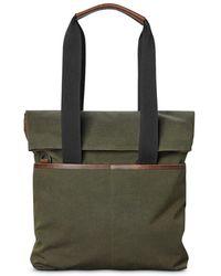 Shinola Mack Fold - Over Tote Bag - Green