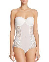 Le Mystere Sophia Strapless Bodysuit - White