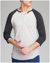 Alternative Apparel - Heathered Raglan Henley - Lyst