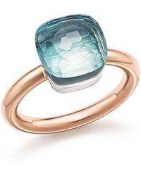 Pomellato - Nudo Classic Ring With Blue Topaz In 18k Rose And White Gold - Lyst