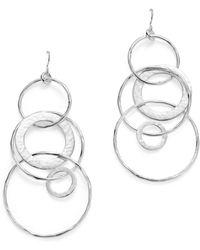 Ippolita Sterling Silver Glamazon® Large Link Jet Set Earrings - Metallic