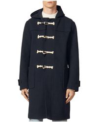 Sandro Duffle Coat - Blue