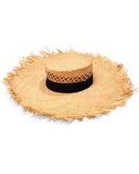 Aqua Open Weave Crown Hat - Multicolour