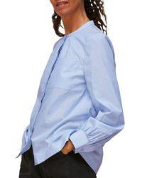 Whistles Striped Cotton Shirt - Blue