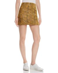 Honey Punch - Snake-print Faux Suede Skirt - Lyst