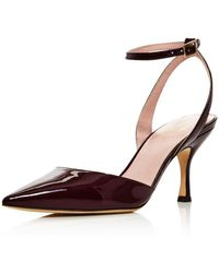 0845247ae1a Kate Spade - Women s Simone Pointed Toe Ankle-strap Leather Court Shoes -  Lyst
