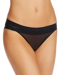 Le Mystere Modern Mesh Unlined Bikini - Black
