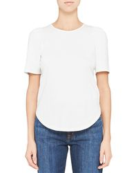 Theory Ruched Tee - White