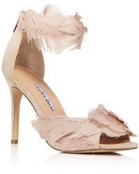 Charles David Women's Collector Feather - Embellished High - Heel Sandals - Black