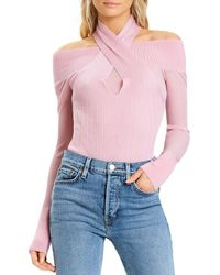 Hervé Léger Ribbed Halter Neck Bodysuit - Pink