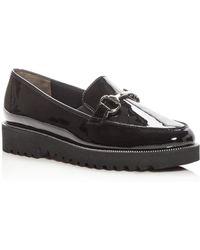 Paul Green Women's Nandi Patent Leather Platform Loafers - Black