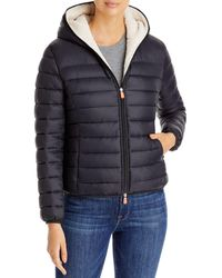 Save The Duck Short Hooded Sherpa - Black