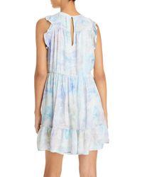 Bella Dahl Ruffled Tiered Mini Dress - Blue