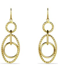 David Yurman - Mobile Small Link Earrings In Gold - Lyst