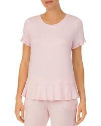 Kate Spade Flounce Hem Sleep Top - Pink