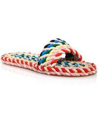 Cheap Comfortable Loeffler Randall Women's Elle Woven Slide Sandals Sale Order 6Aute