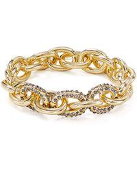 Aqua - Pavé Link Stretch Bracelet - Lyst
