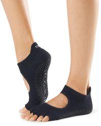 ToeSox Bellarina Open Toe Grip Barre Socks - Black