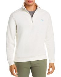 Tommy Bahama Tobago Bay Half - Zip Sweatshirt - White
