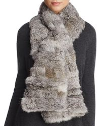 Surell - Pieced Rabbit Fur Scarf - Lyst