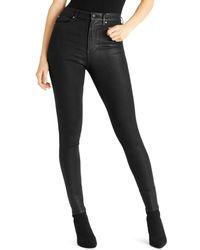 Ella Moss - Super-sleek Coated Skinny Ankle Jeans - Lyst