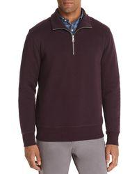 Bloomingdale's Half - Zip Fleece Sweatshirt - Purple