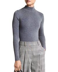 MICHAEL Michael Kors Mock Neck Bodysuit - Grey