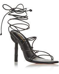 Cult Gaia Soleil Lace Up High Heel Sandals - Black